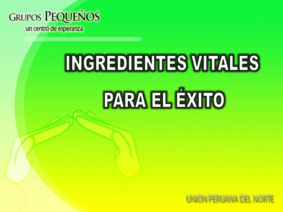 INGREDIENTES VITALES PARA EL ÉXITO