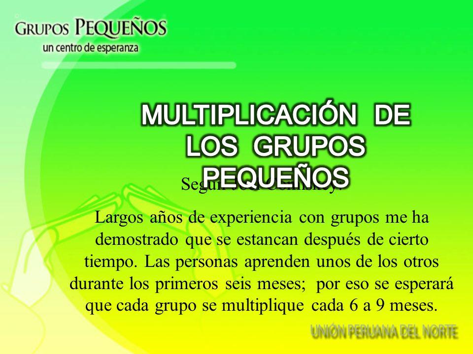 MULTIPLICACIÓN DE LOS GRUPOS PEQUEÑOS