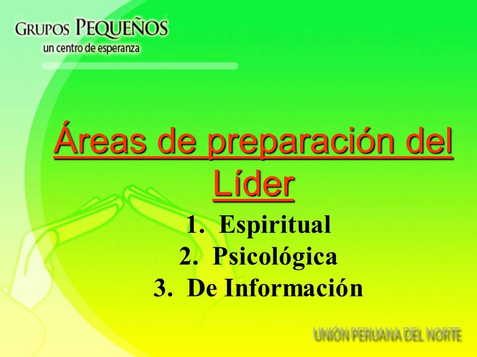 Áreas de preparación del Líder