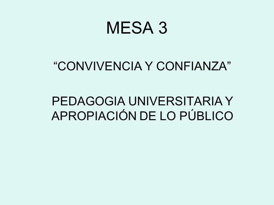 MESA 3 CONVIVENCIA Y CONFIANZA