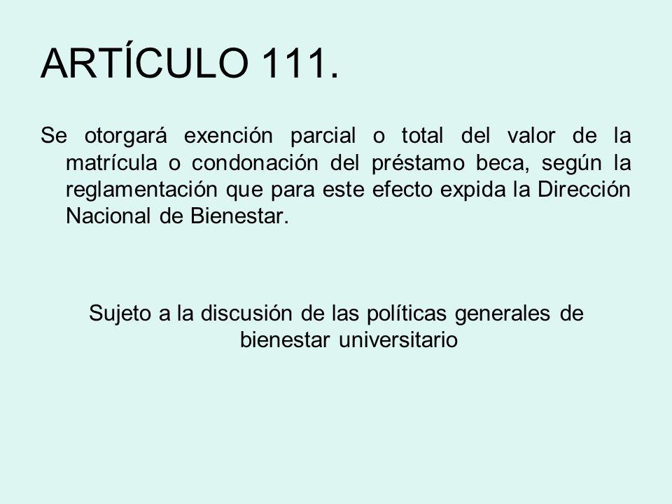 ARTÍCULO 111.