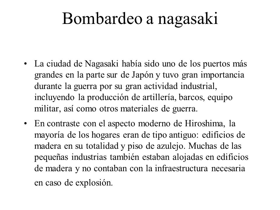 Bombardeo a nagasaki