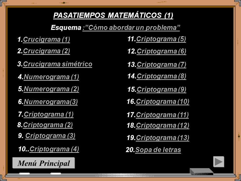 Menú Principal PASATIEMPOS MATEMÁTICOS (1)