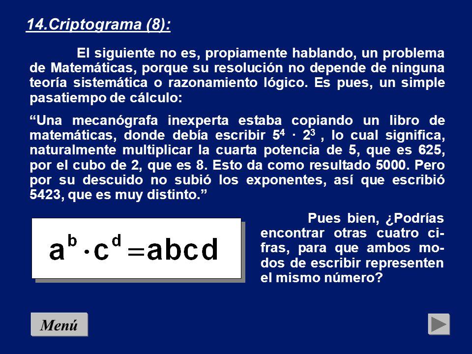 14.Criptograma (8):