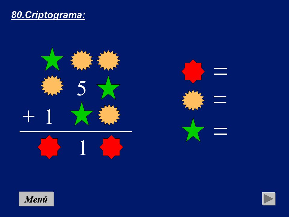 80.Criptograma: 5 + 1 1 Menú