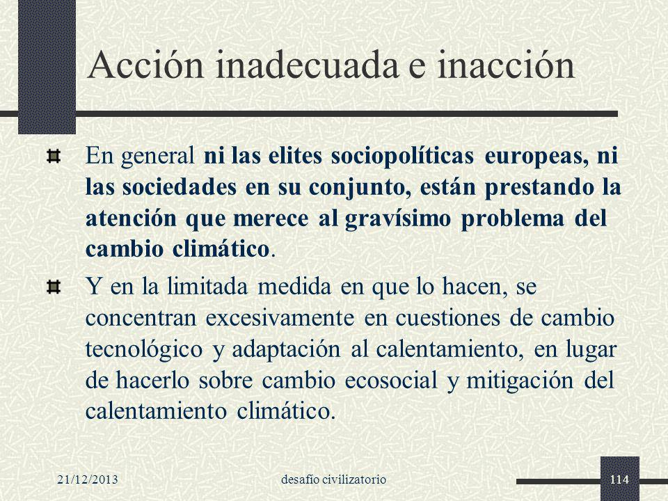 Acción inadecuada e inacción