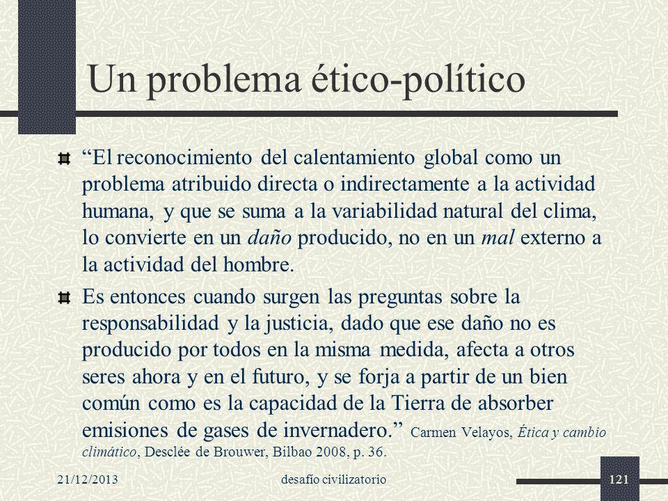 Un problema ético-político