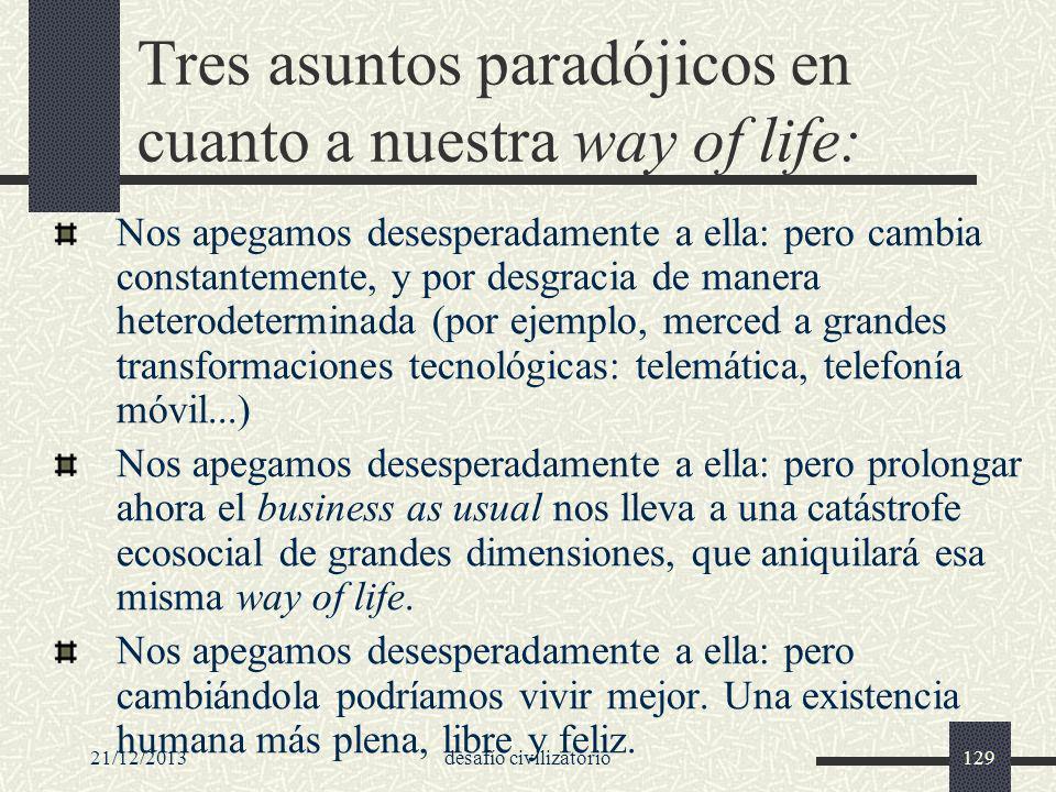 Tres asuntos paradójicos en cuanto a nuestra way of life: