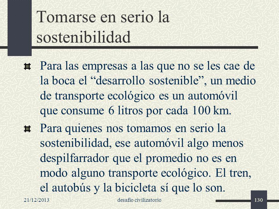 Tomarse en serio la sostenibilidad