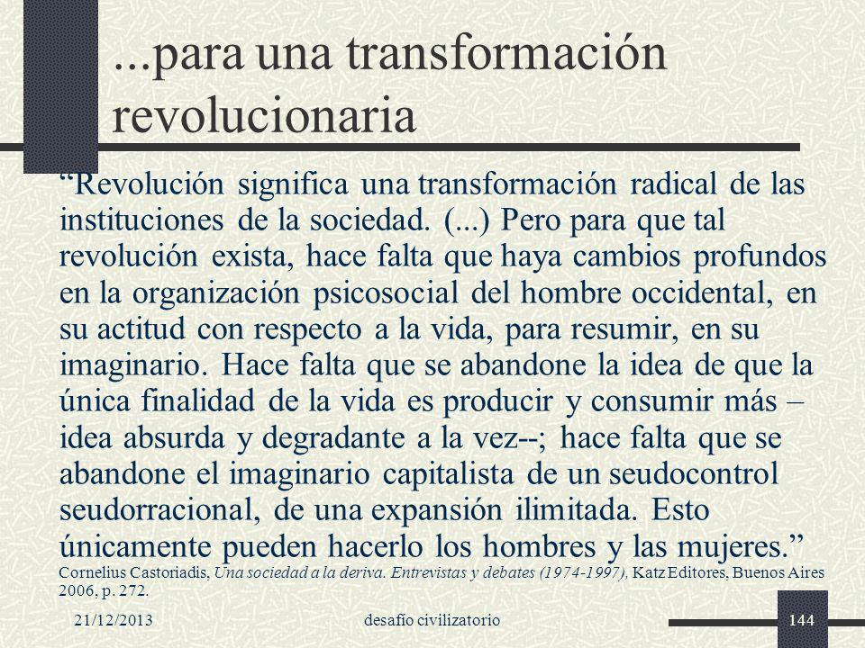 ...para una transformación revolucionaria