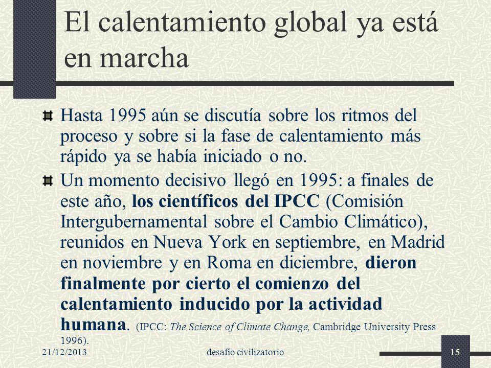 El calentamiento global ya está en marcha