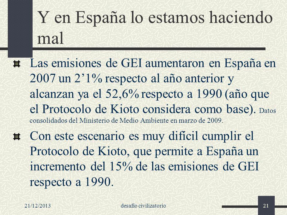 Y en España lo estamos haciendo mal