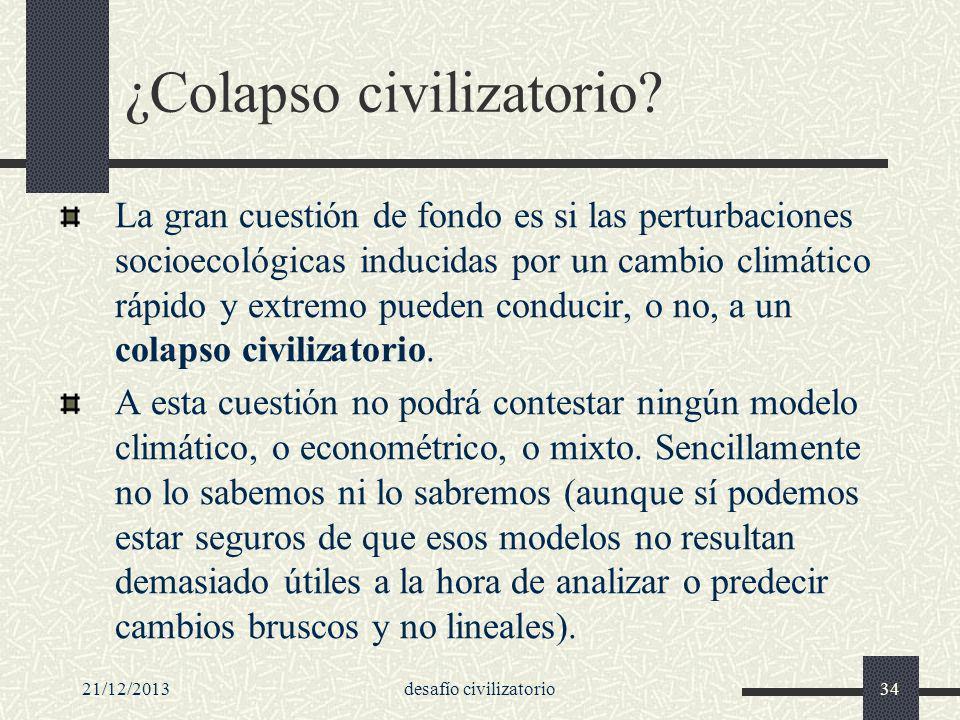 ¿Colapso civilizatorio