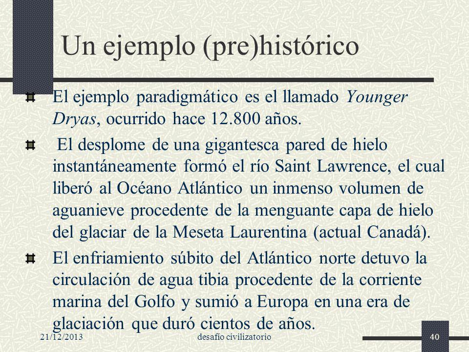 Un ejemplo (pre)histórico