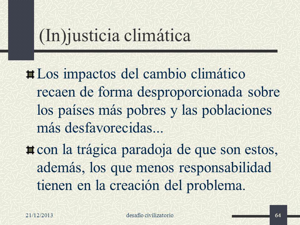 (In)justicia climática