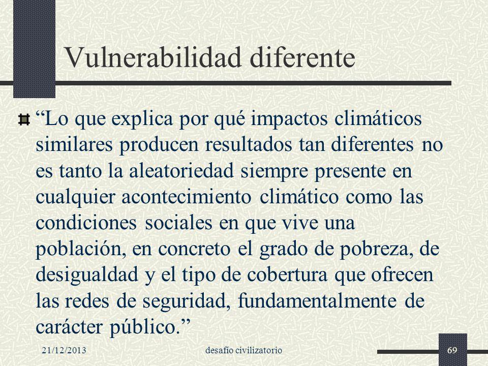 Vulnerabilidad diferente