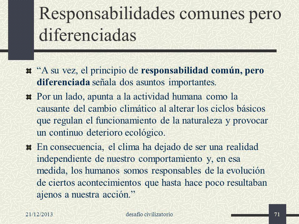 Responsabilidades comunes pero diferenciadas