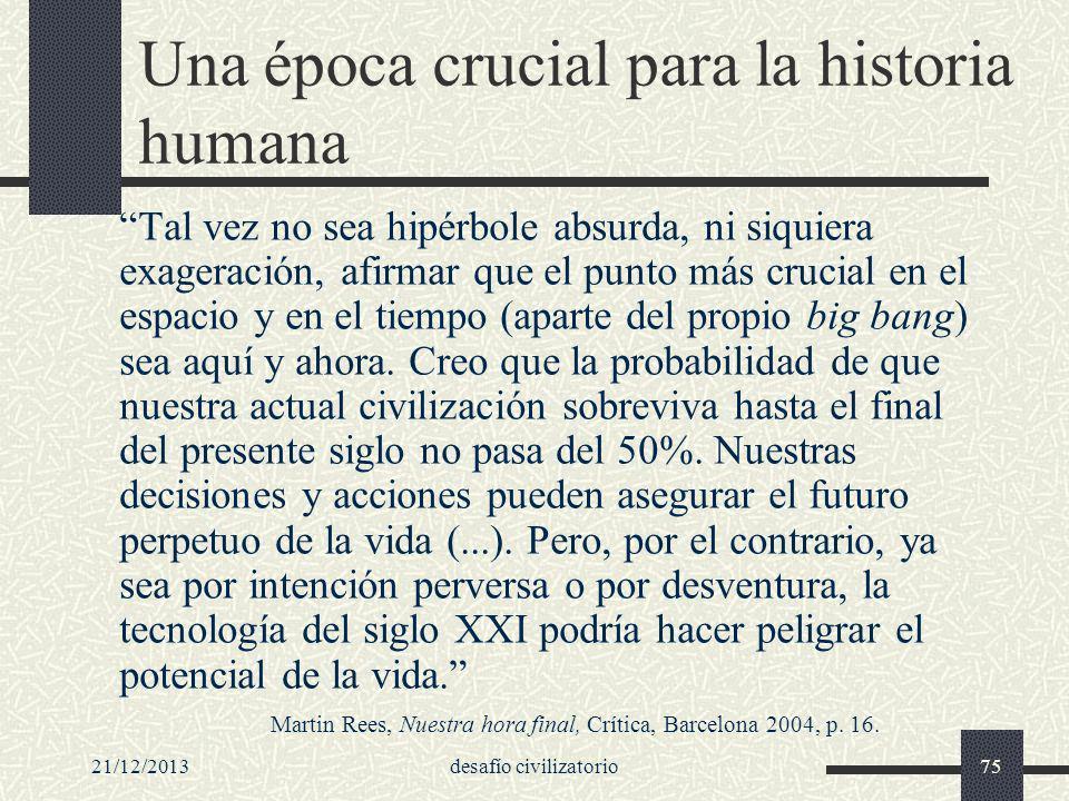 Una época crucial para la historia humana