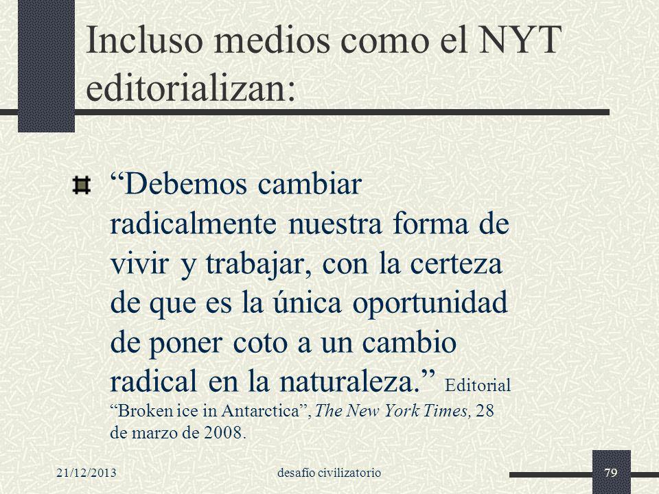 Incluso medios como el NYT editorializan:
