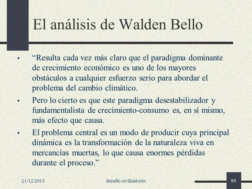 El análisis de Walden Bello