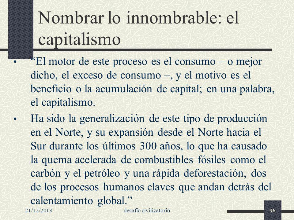 Nombrar lo innombrable: el capitalismo