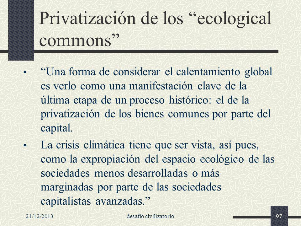 Privatización de los ecological commons