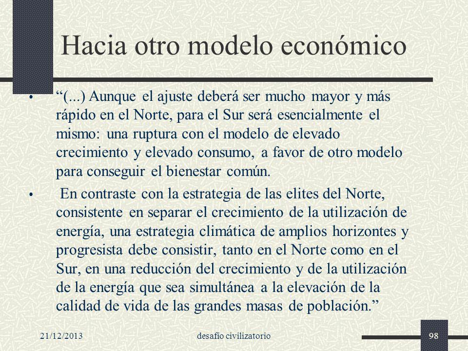 Hacia otro modelo económico