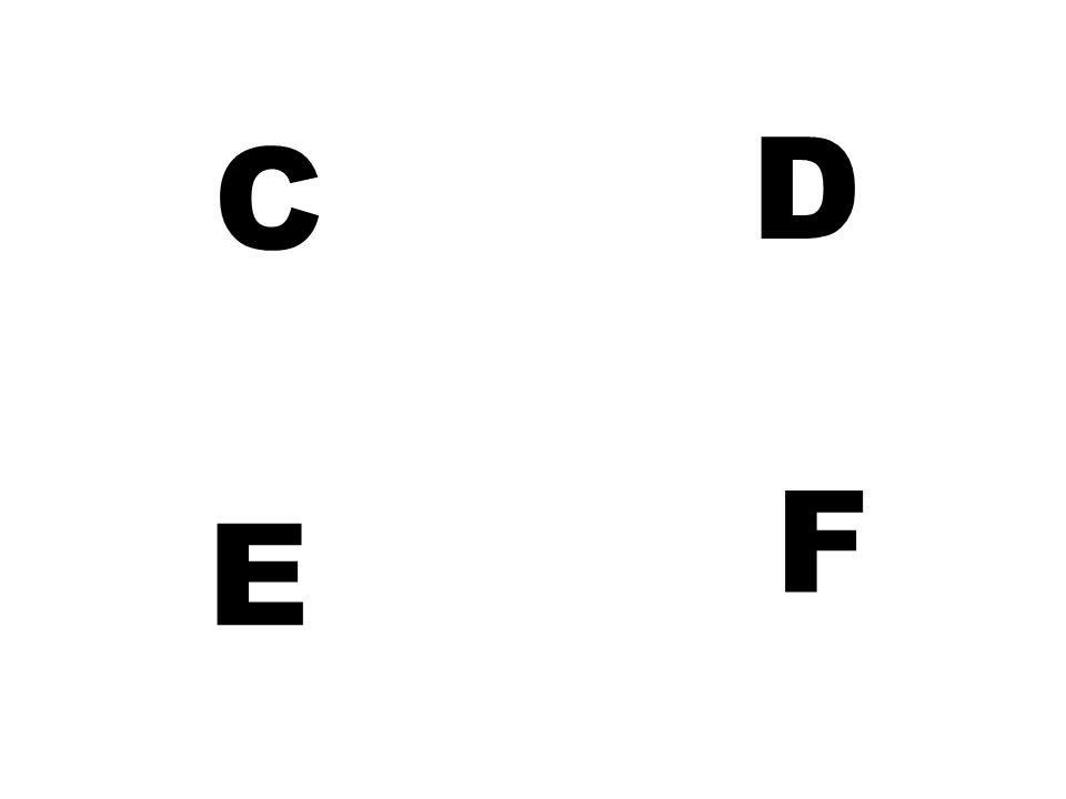 D C F E
