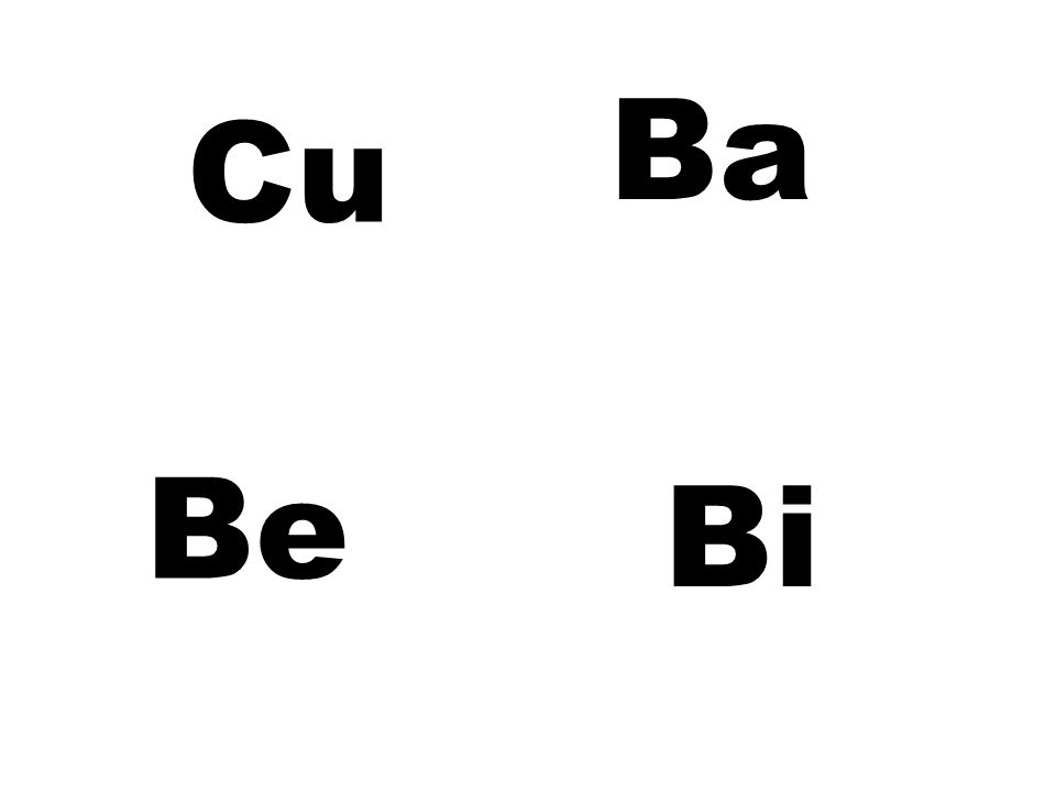 Ba Cu Be Bi