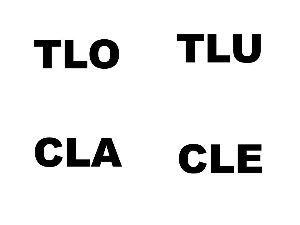 TLU TLO CLA CLE