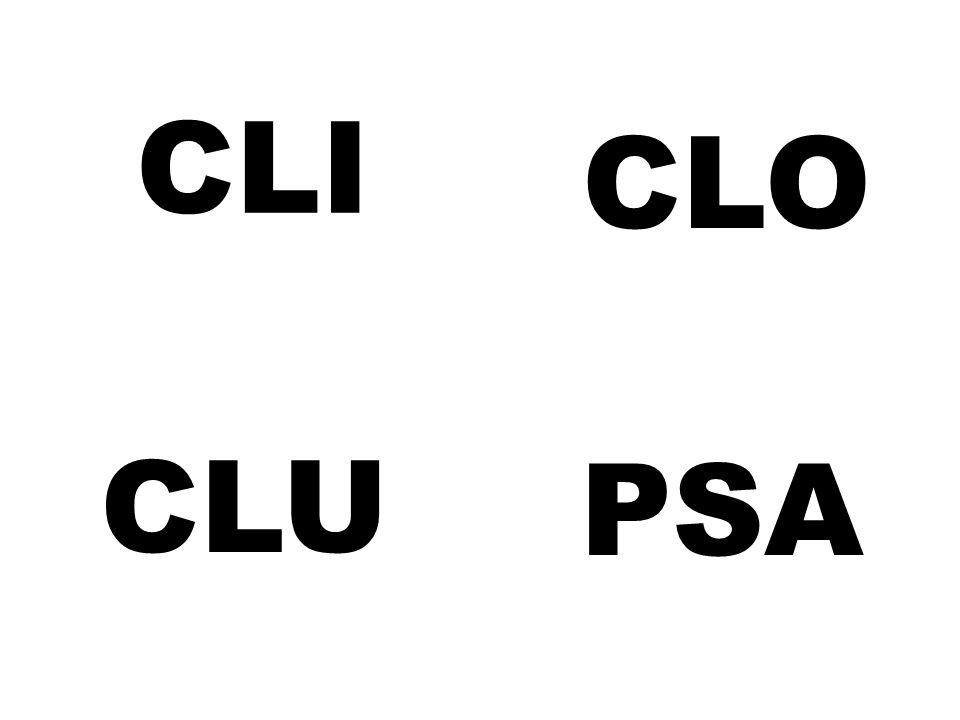 CLI CLO CLU PSA