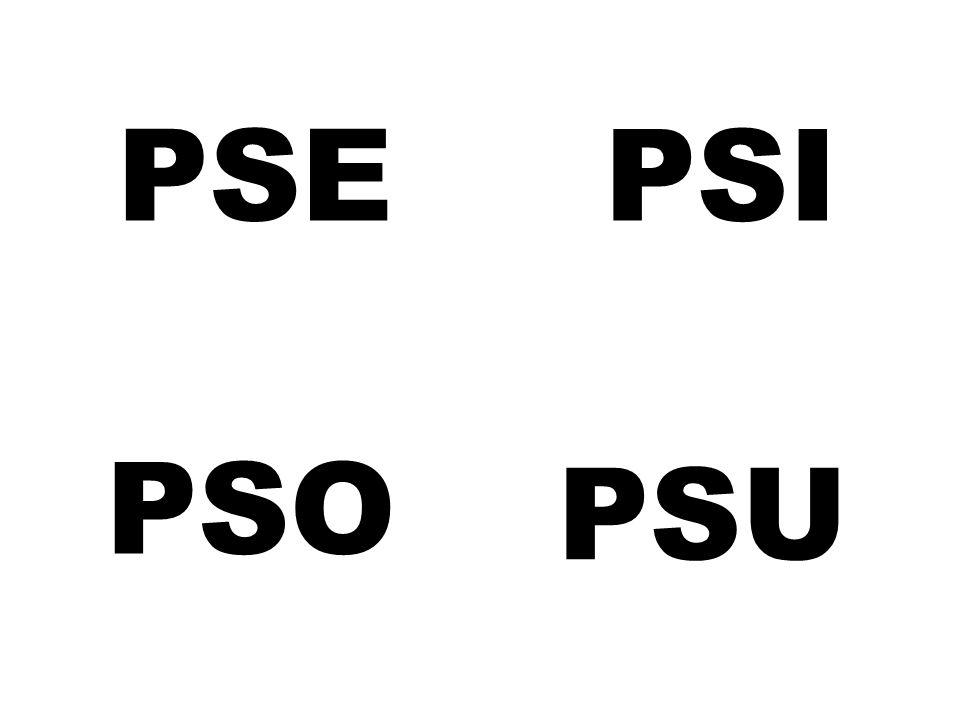 PSE PSI PSO PSU