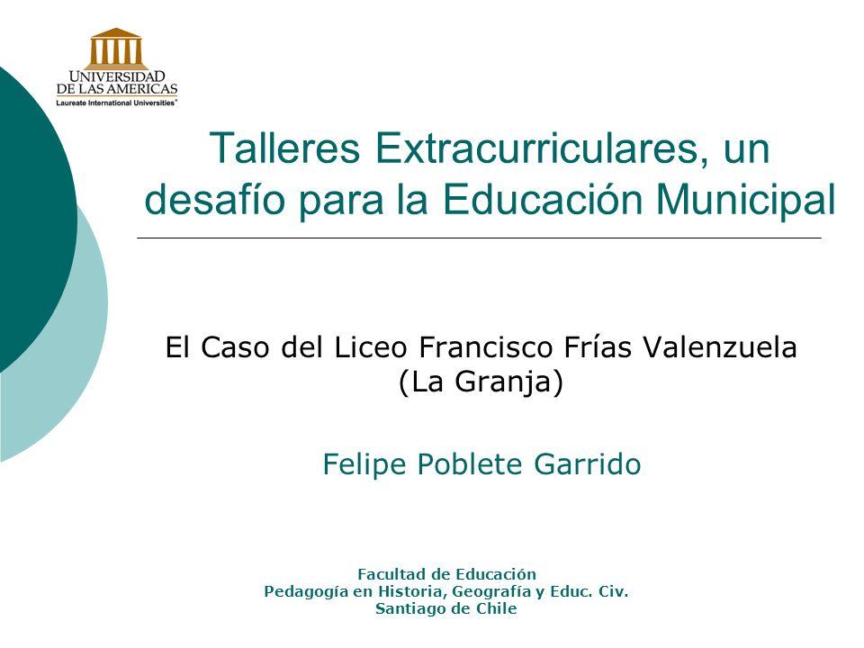 Talleres Extracurriculares, un desafío para la Educación Municipal