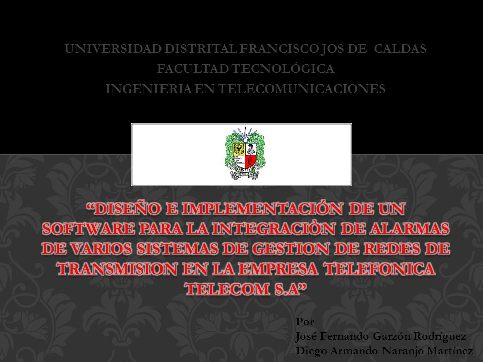 UNIVERSIDAD DISTRITAL FRANCISCO JOS DE CALDAS