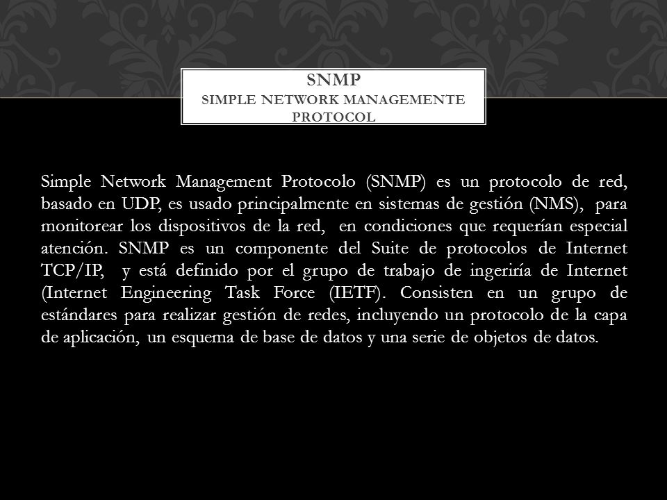 SNMP SIMPLE NETWORK MANAGEMENTE PROTOCOL