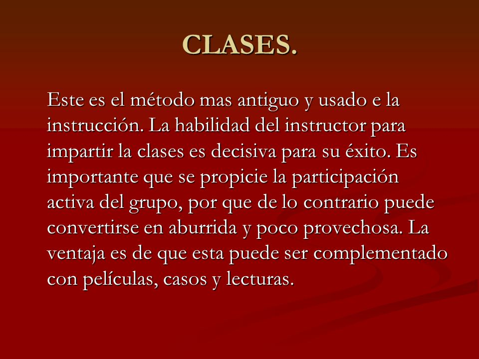 CLASES.
