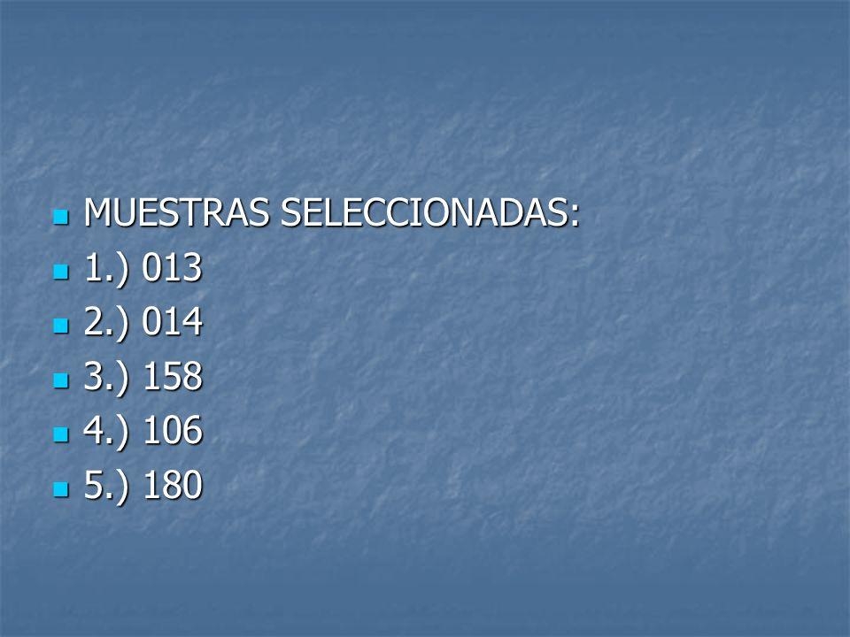 MUESTRAS SELECCIONADAS: