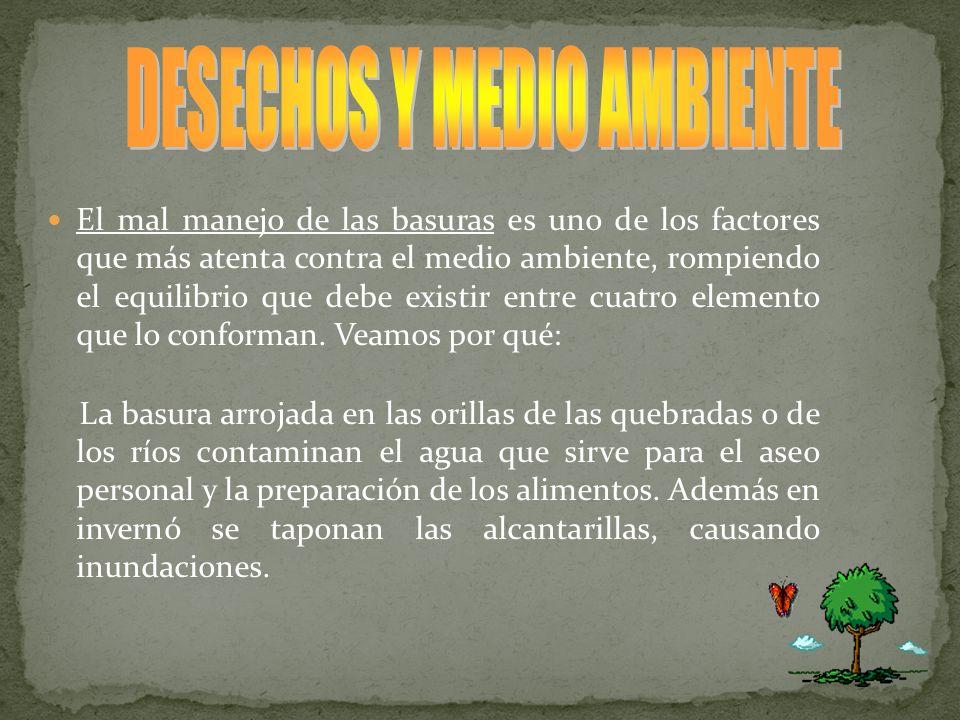 DESECHOS Y MEDIO AMBIENTE