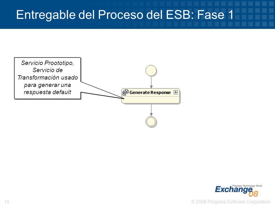 Entregable del Proceso del ESB: Fase 1