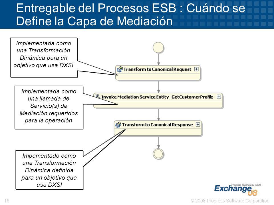 Entregable del Procesos ESB : Cuándo se Define la Capa de Mediación