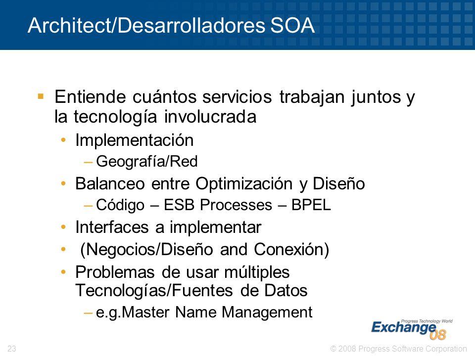 Architect/Desarrolladores SOA