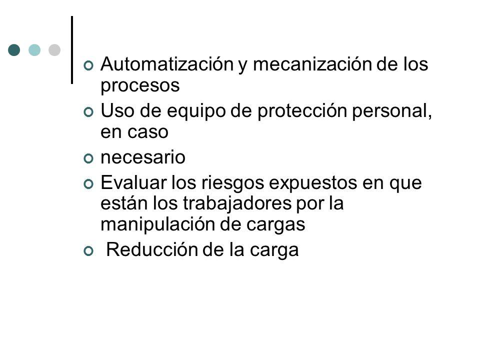 Automatización y mecanización de los procesos