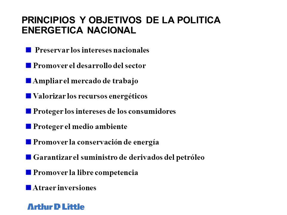 PRINCIPIOS Y OBJETIVOS DE LA POLITICA ENERGETICA NACIONAL
