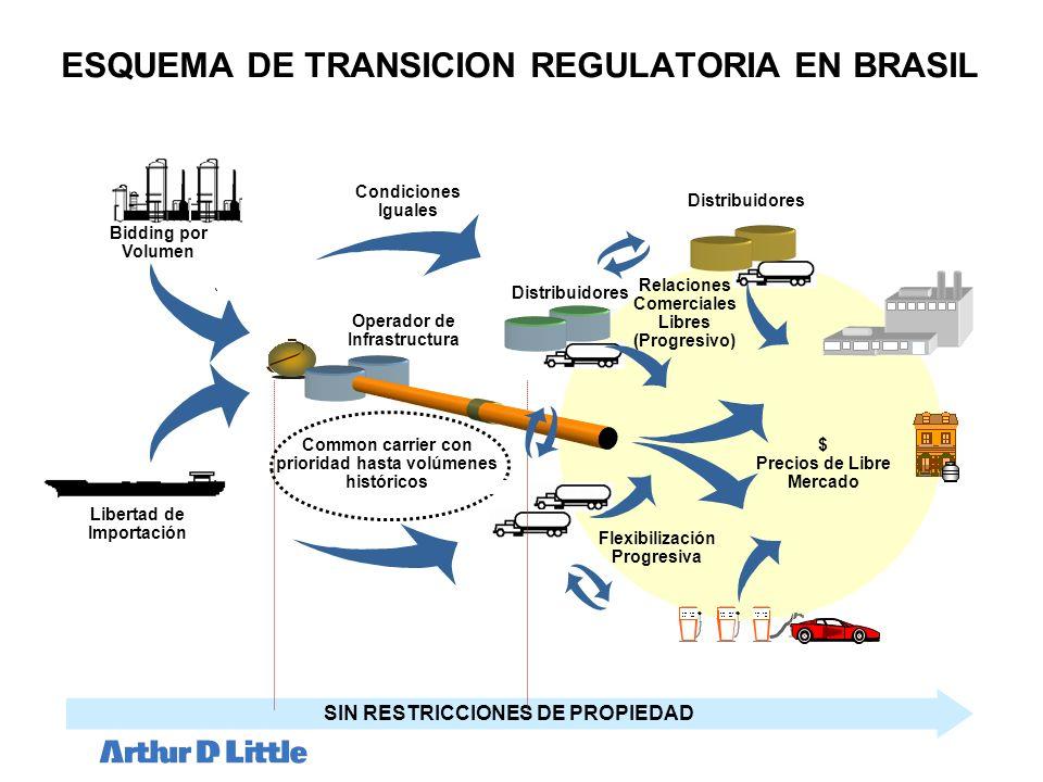 ESQUEMA DE TRANSICION REGULATORIA EN BRASIL