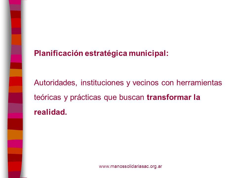 Planificación estratégica municipal:
