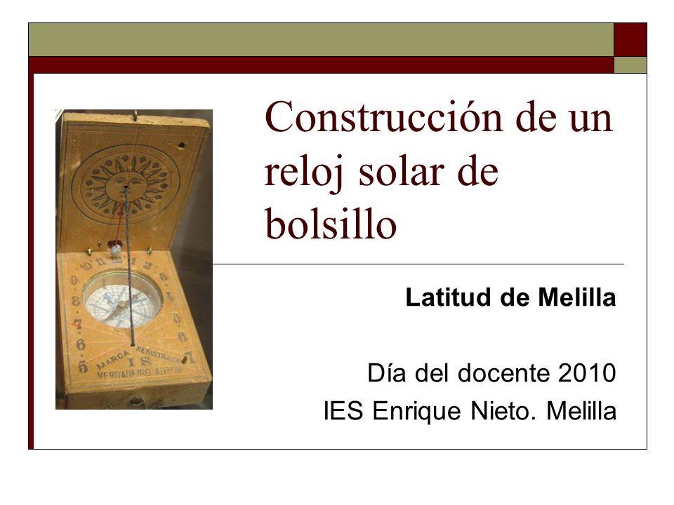 Construcción de un reloj solar de bolsillo