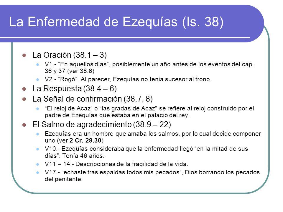 La Enfermedad de Ezequías (Is. 38)