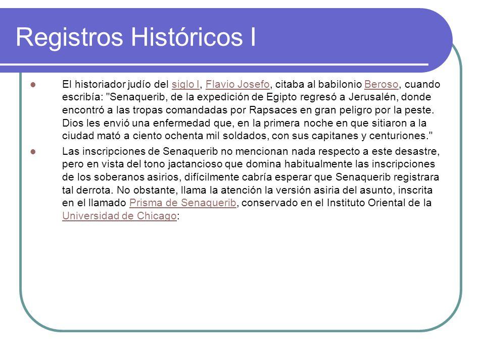 Registros Históricos I