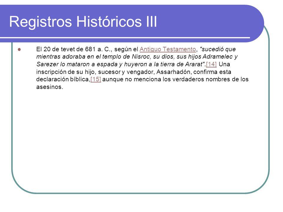 Registros Históricos III