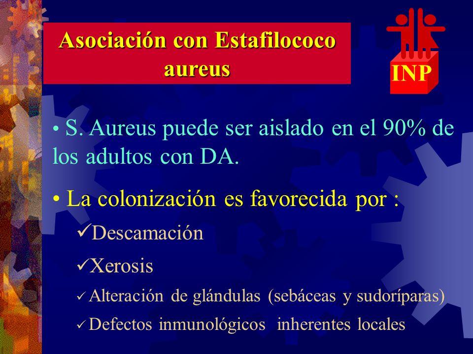 Asociación con Estafilococo aureus